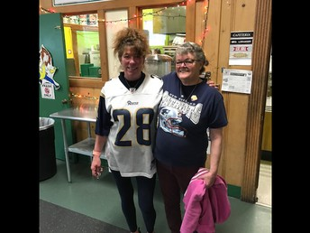 Ms. Jen and Ms. Paula getting ready for the big game!