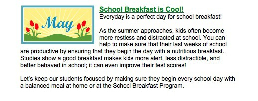 Image result for make it a good day with school breakfast