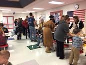 Kindergarten held their annual kindergarten feast!