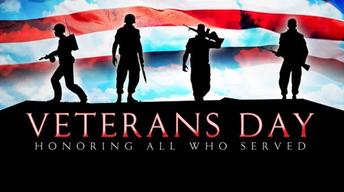 No School - Veterans Day - Wednesday Nov 11th