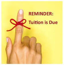 Tuition Due by Tuesday Nov. 10