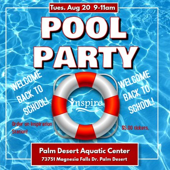 DESERT Back to School Pool Party