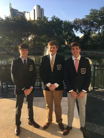 Three UHS students compete at National DECA Competition in Florida!