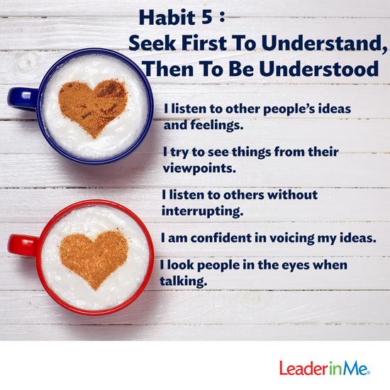 Habit 5: Seek First to Understand, Then to be Understood