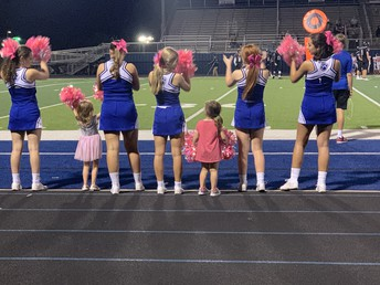 Future Cheerleaders Support the Panthers Too!