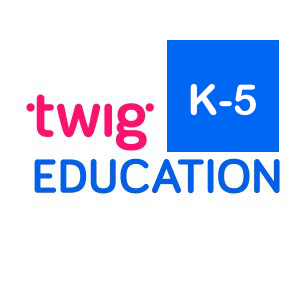 This is an image of the Twig Education kindergarten through 5th grade icon and a link its website about the same.