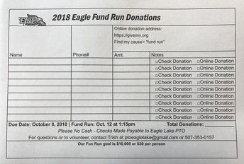 FUNd Run Collection Envelopes