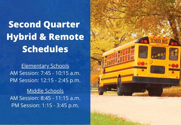 Second Quarter Hybrid & Remote Schedules