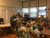 Mr. Snow visits first grade!