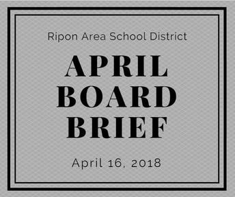 April Board Brief
