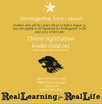 2021-2022 Kindergarten registration is open!