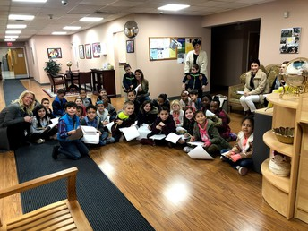 A Special Central Office Visit from Grade 2 McGuire Students as They Learn About our Town
