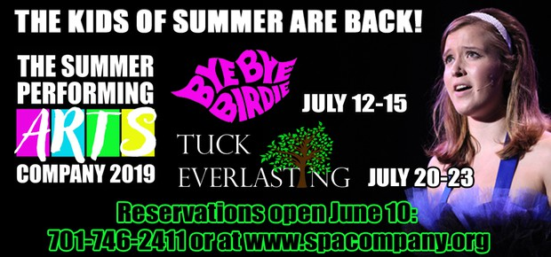 The kids of summer are back! The Summer Performing Arts Company 2019 presents Bye Bye Birdie and Tuck Everlasting. Reservations open June 10th.
