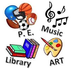 Art, Music, PE and Library