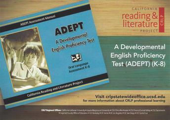 A Developmental English Proficiency Test (ADEPT) (K-8)