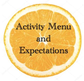 FCSA Activity Menu & Expectations