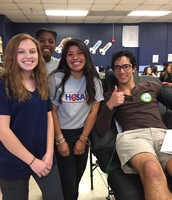 Gallatin HOSA Students Help with Blood Drive