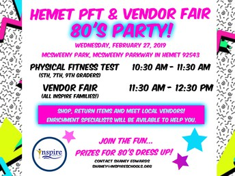 Hemet 80's Party Vendor Fair