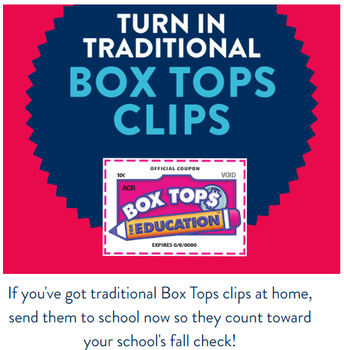 Bring in your clipped Box tops!