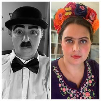 Meet Charlie Chaplin and Frida Kahlo