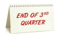 End of 3rd Quarter - 3/13