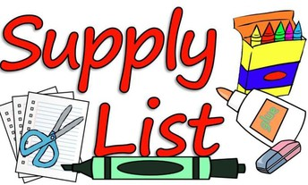 Supply List for the 2019-2020 school year