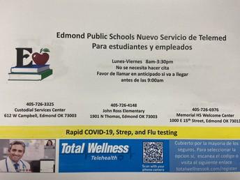 Edmond Public Schools Nuevo Servicio de Telemed