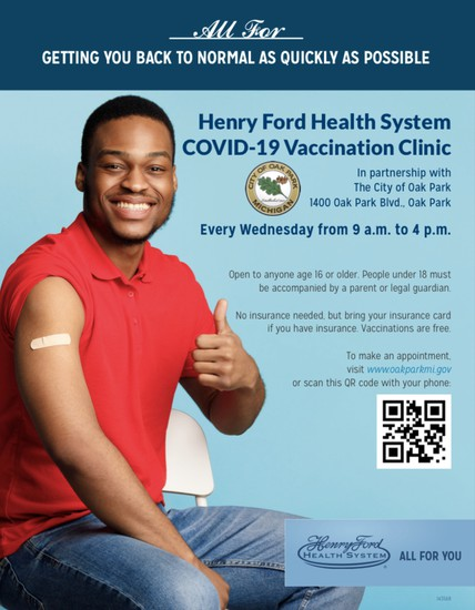 HENRY FORD HEALTH SYSTEM & CITY OF OAK PARK PARTNERING IN FIGHT AGAINST COVID-19