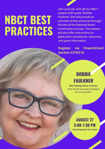 Kick-off Session for UA/UWA NBCT Support with Special Guest, Bobbie Faulkner