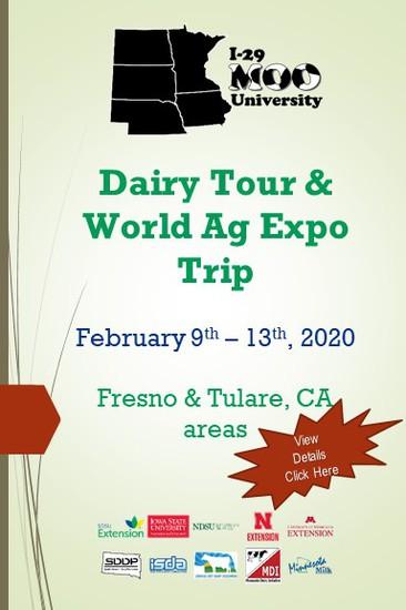 I-29 Moo University Dairy Tour & World Ag Expo Trip