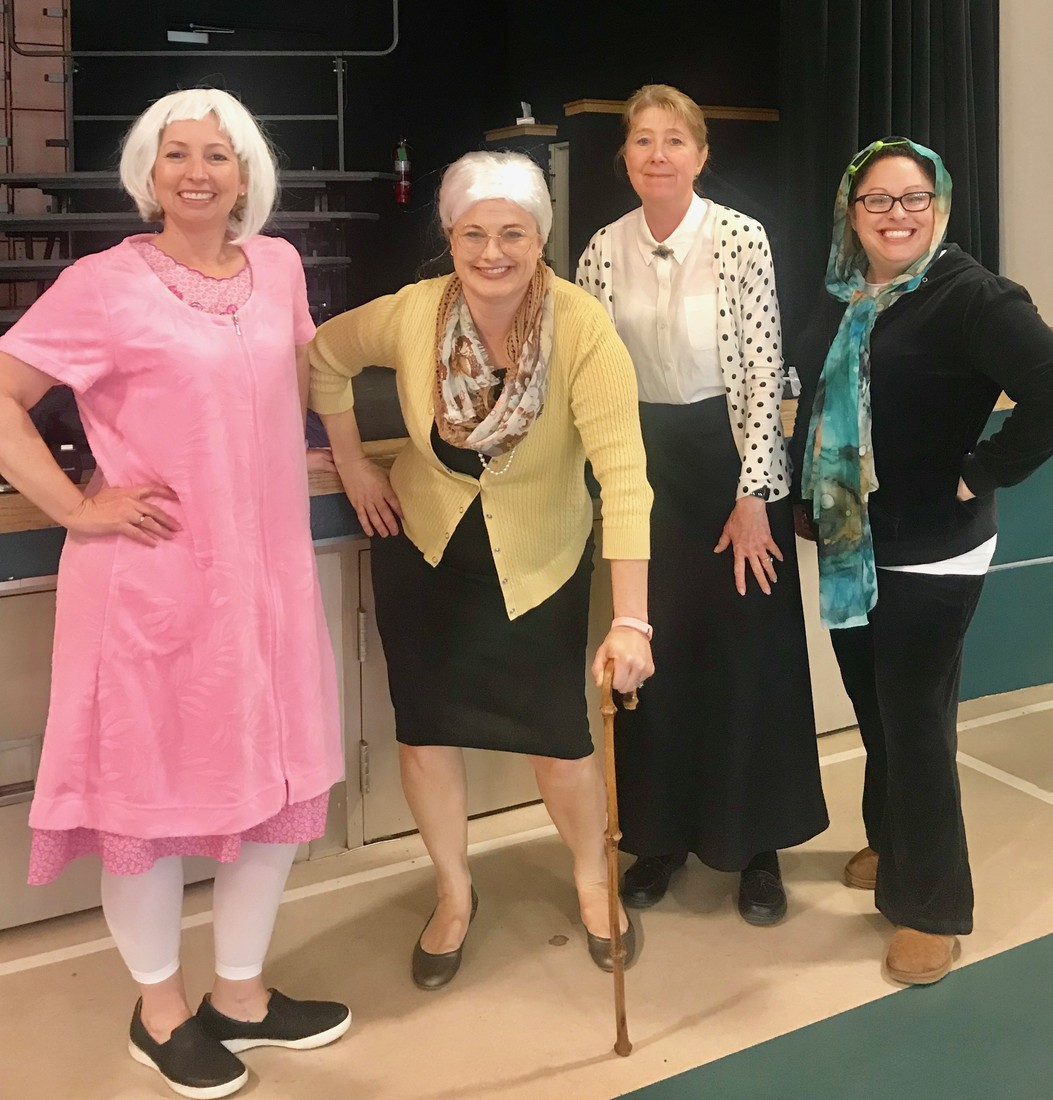 100 Year Old First Grade Teachers on the 100th Day of School