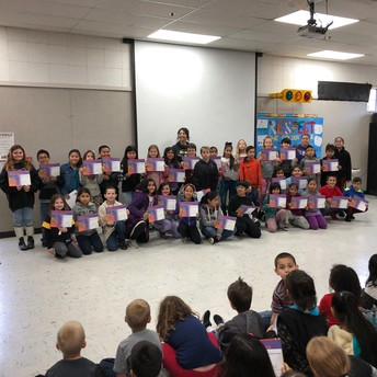 4th Grade Perfect Attendance Winners!
