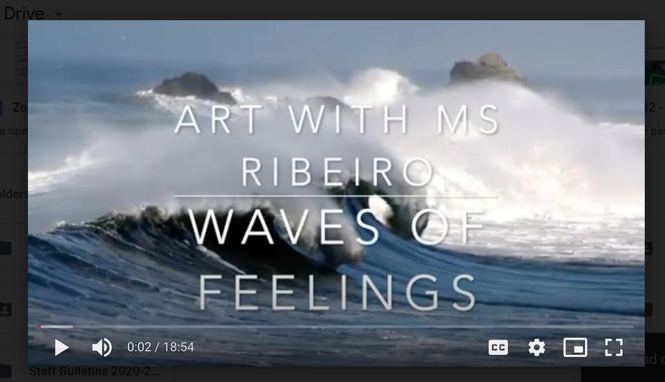 Art with Ms. Ribeiro: Waves of Feelings