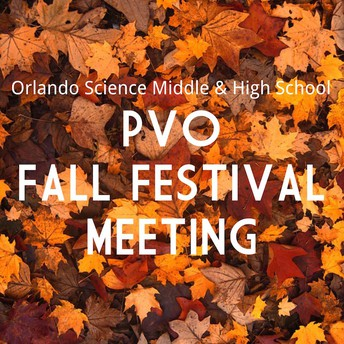 September 26th Fall Festival PVO Meeting