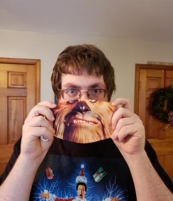 Mrs. Gail's Son Garrett with his fun mask!