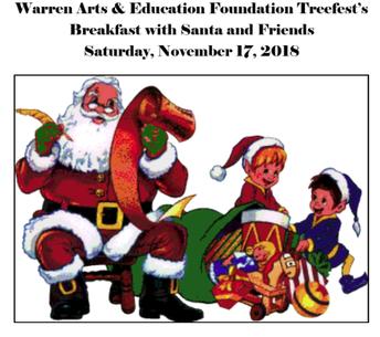 Warren Arts & Education Breakfast w/ Santa