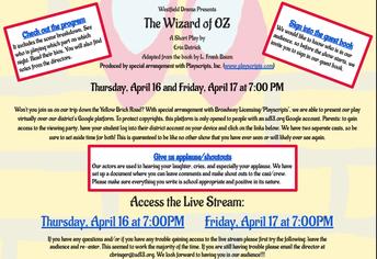 Westfield Drama Presents The Wizard Of OZ
