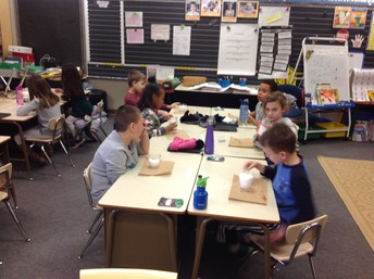 Student Scientists investigating snow