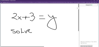 Whiteboard and Tutor in the Chat will Help you