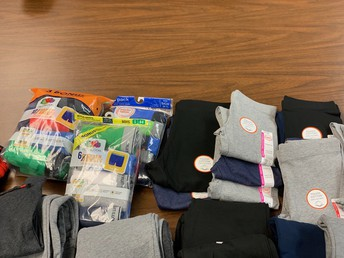 Some of the wonderful donations to our school Nurse.