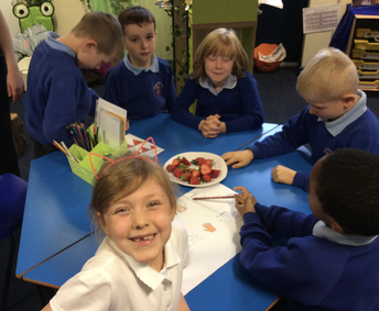 Year 2 exploring food and adjectives