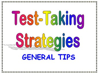 Test Taking Tips & Strategies