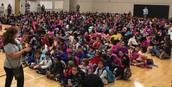 Primer asamblea de espíritu escolar