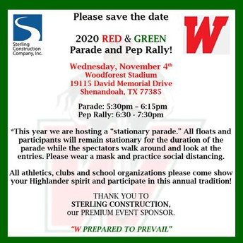 TWHS Red and Green Parade and Pep Rally