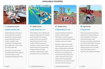 Robotics & Coding: Amazon Future Engineer - Grades 5-12