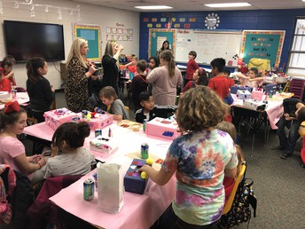Families and Students Celebrated Valentine's Day Together with a Valentine's Day Party