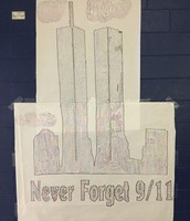 Mr. Riedel's students honored the victims of September 11th.