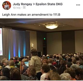 Leigh Ann making an amendment