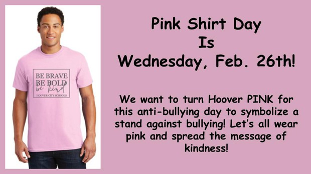pink day is february 26th - wear pink