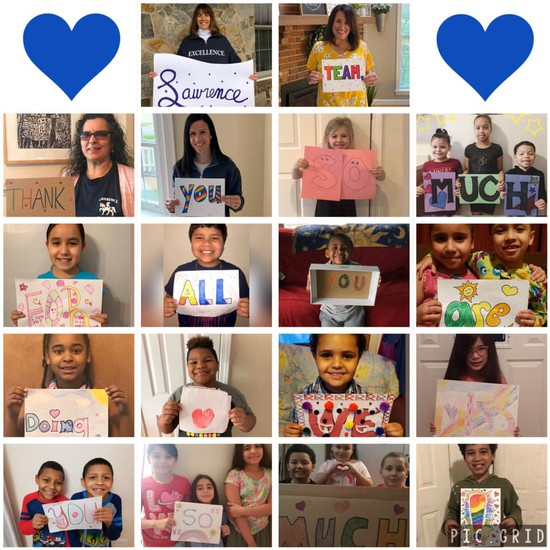 Lawrence students thank their school for all they've done.